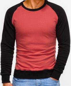 Tamsiai rožinis vyriškas džemperis internetu pigiau B920 12207-1