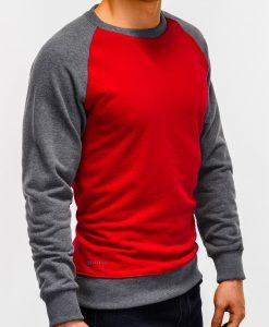 Raudonas vyriškas džemperis internetu pigiau B920 12208-1