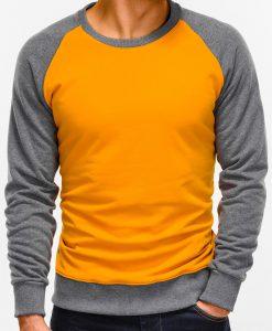 Tamsiai geltonas vyriškas džemperis internetu pigiau B920 12209-1