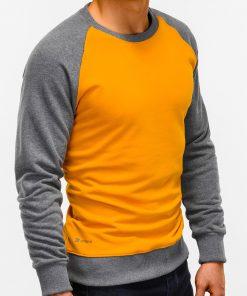 Tamsiai geltonas džemperis vyrams internetu pigiau B920 12209-2