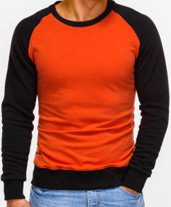 Oranžinis vyriškas džemperis internetu pigiau B920 12210-1