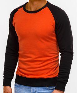 Oranžinis džemperis vyrams internetu pigiau B920 12210-4