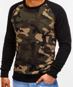 Žalias kamufliažinis vyriškas džemperis internetu pigiau Naz B920 12212-1