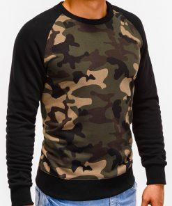 Žalias kamufliažinis džemperis vyrams internetu pigiau Naz B920 12212-2