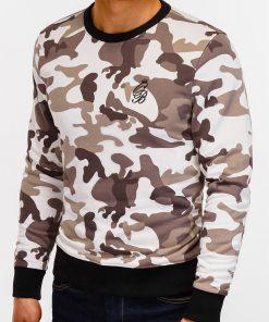 Rusvas kamufliažinis džemperis vyrams internetu pigiau B919 12214-1