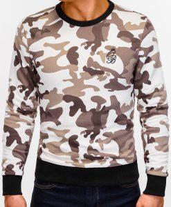 Rusvas kamufliažinis vyriškas džemperis internetu pigiau B919 12214-6