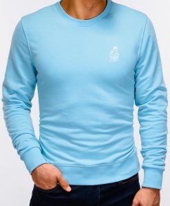 Šviesiai mėlynas vyriškas džemperis internetu pigiau B919 12215-4