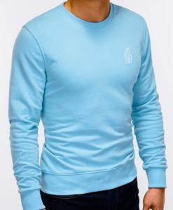 Šviesiai mėlynas džemperis vyrams internetu pigiau B919 12215-5