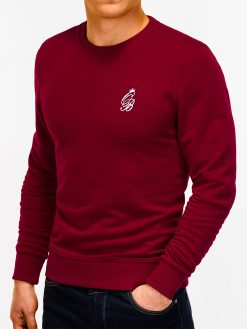 Tamsiai raudonas vyriškas džemperis internetu pigiau B919 12216-4