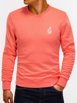 Persikinis vyriškas džemperis internetu pigiau B919 12217-3
