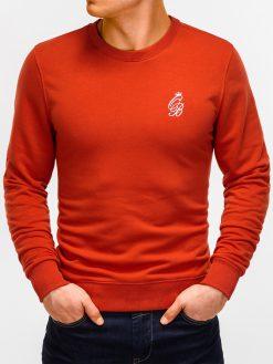 Šviesiai raudonas vyriškas džemperis internetu pigiau B919 12218-3