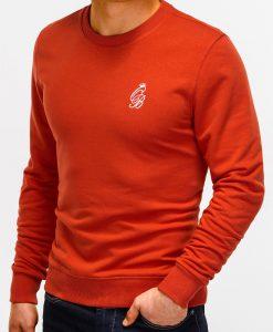 Šviesiai raudonas džemperis vyrams internetu pigiau B919 12218-4