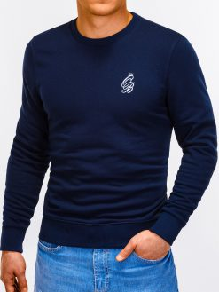 Tamsiai mėlynas vyriškas džemperis internetu pigiau Kingo B919 12219-4