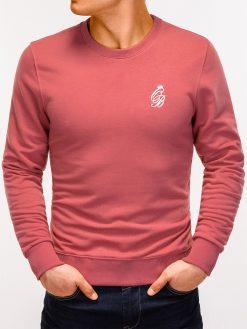 Tamsiai rožinis vyriškas džemperis internetu pigiau Kingo B919 12220-5