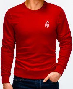 Raudonas vyriškas džemperis internetu pigiau B919 12222-4