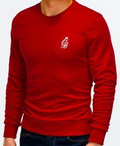 Raudonas džemperis vyrams internetu pigiau B919 12222-5