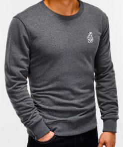 Tamsiai pilkas džemperis vyrams internetu pigiau B919 12223-2