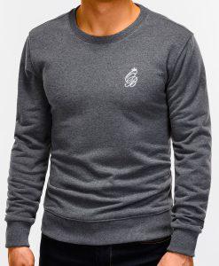 Tamsiai pilkas vyriškas džemperis internetu pigiau B919 12223-6