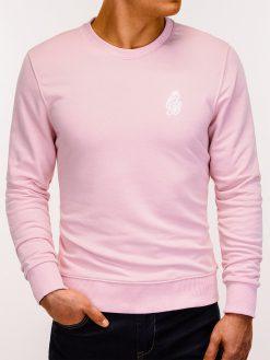 Šviesiai rožinis vyriškas džemperis internetu pigiau B919 12225-3