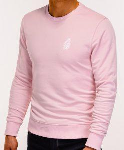 Šviesiai rožinis džemperis vyrams internetu pigiau B919 12225-4