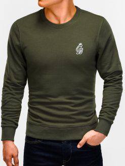 Chaki vyriškas džemperis internetu pigiau Kingo B919 12226-3