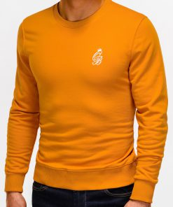 Oranžinis vyriškas džemperis internetu pigiau Kingo B919 12228-4