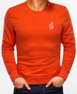 Tamsiai oranžinis vyriškas džemperis internetu pigiau B919 12229-2