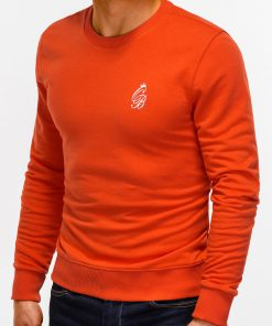 Tamsiai oranzinis vyriskas dzemperis internetu pigiau B919 12229-3