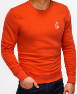 Tamsiai oranžinis džemperis vyrams internetu pigiau B919 12229-5