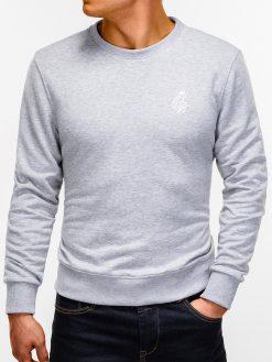 Pilkas vyriškas džemperis internetu pigiau B919 12230-1