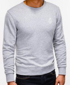 Pilkas džemperis vyrams internetu pigiau B919 12230-4