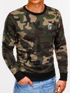 Žalias kamufliažinis vyriškas džemperis internetu pigiau B919 12231-4