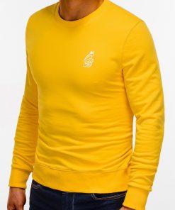 Geltonas džemperis vyrams internetu pigiau B919 12232-4