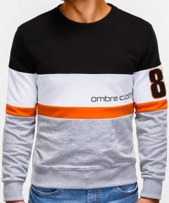 Pilkas džemperis vyrams su užrašu internetu pigiau 85 B923 12235-3