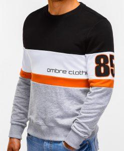Pilkas vyriškas džemperis su užrašu internetu pigiau 85 B923 12235-4