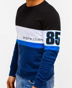 Tamsiai mėlynas džemperis vyrams su užrašu internetu pigiau 85 B923 12236-5