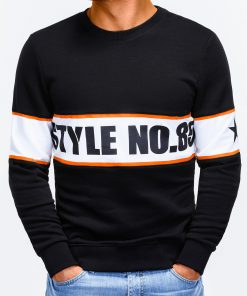 Juodas džemperis vyrams su užrašu internetu pigiau B926 12237-2