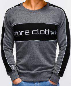 Tamsiai pilkas vyriškas džemperis internetu pigiau Clot B922 12243-2