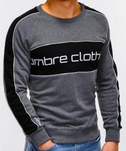 Tamsiai pilkas džemperis vyrams internetu pigiau Clot B922 12243-4