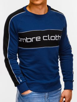 Tamsiai mėlynas vyriškas džemperis internetu pigiau Clot B922 12244-1