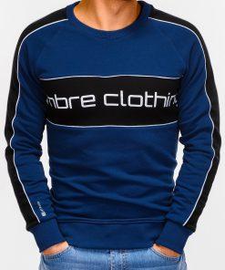 Tamsiai mėlynas džemperis vyrams internetu pigiau Clot B922 12244-3
