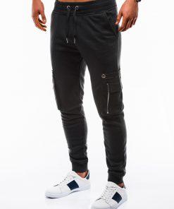 Juodos vyriškos sportinės kelnės internetu pigiau P732 12552-4