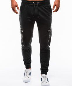 Juodos sportinės kelnės vyrams internetu pigiau P732 12552-5