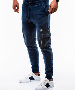 Tamsiai mėlynos vyriškos sportinės kelnės internetu pigiau P732 12553-4
