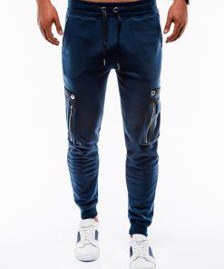 Tamsiai mėlynos sportinės kelnės vyrams internetu pigiau P732 12553-5