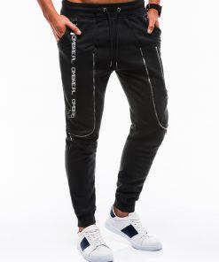 Juodos sportinės kelnės vyrams internetu pigiau Loft P735 12567-3