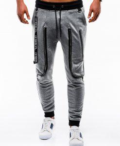Tamsiai pilkos vyriškos sportinės kelnės internetu pigiau Loft P735 12568-1