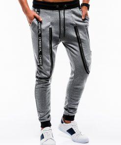 Tamsiai pilkos sportinės kelnės vyrams internetu pigiau Loft P735 12568-3