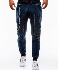 Tamsiai mėlynos sportinės kelnės vyrams internetu pigiau P735 12569-4