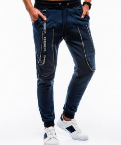 Tamsiai mėlynos vyriškos sportinės kelnės internetu pigiau P735 12569-6